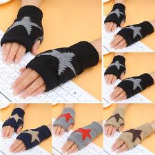 Winter Warmer Women Half Finger Fingerless Gloves Wrist Arm Hand Knitted Mittens