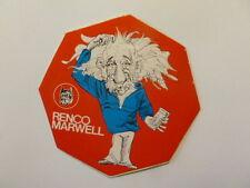VECCHIO ADESIVO / Old Sticker EINSTEIN (cm 10) serie Renco Marwell rosso