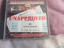 U2 Unapproved Live Circa Rattle And Hum Era CD Australia Rare