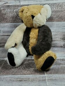 """Vermont Teddy Bear MISFIT Jointed Multi Color Patchwork Bear 15"""""""