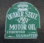 vtg+Quaker+State+Motor+Oil+tombstone+sign+Baltimore+enamel+on+metal+rough