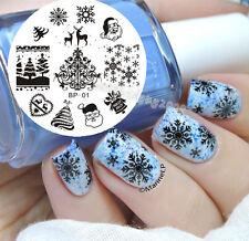 BORN PRETTY Christmas Nail Art Stamping Plate Image Template Nail Tools Tips #01