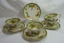 Johnson Brothers England NINGPO Rosedawn Four (4) Teacups & Saucers VGC