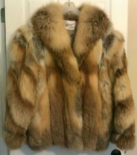 Woman's Large or Extra Large Red Fox Fur Coat Jacket L or XL, Great shape