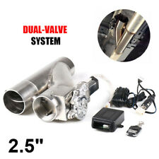 "2.5"" 63mm Exhaust Control E-cut Out Dual Valve Electric Y Pipe wish Remote"