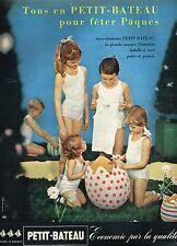 E- Publicité Advertising 1958 Sous vetement pour enfants Petit Bateau