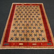 Designer Orient Teppich 180 x 126 cm Perser Gabbeh Handgeknüpft Modern Braun Rug