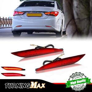 For 2011-2014 Hyundai Sonata Rear Bumper Reflector Brake Tail Light Signal Lamp
