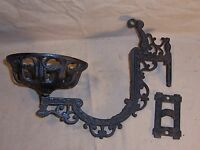 Antique Kerosene Oil Lamp Holder Cast Iron Wall Mount Victorian Home Decor