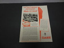 J.I. Case Farm Equipment &  Implements Print Ad 1945 Seed Combines