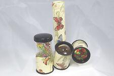 Super - Kaleidoskop / Oktaskop mit drei Sichtvarianten / Dekor Schmetterlinge