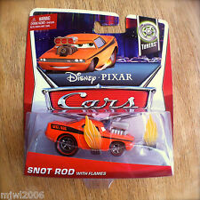 Disney PIXAR Cars SNOT ROD WITH FLAMES on 2013 TUNERS THEME CARD diecast 8/10
