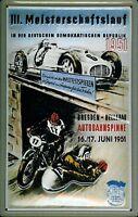 Meisterschaftslauf Dresden DDR 1951 Letrero de Metal 3D en Relieve Cartel Lata