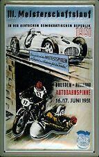 Meisterschaftslauf Dresden DDR 1951 Blechschild 3D geprägt Tin Sign 20 x 30 cm