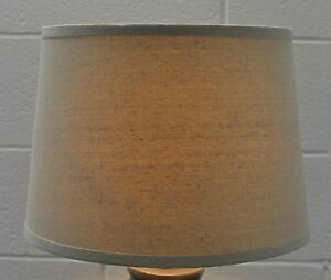 """Urbanest French Linen Drum Style Lamp Shade 12x14x10"""" Lampshade Spider Fitter"""