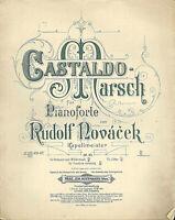 Rudolf Novacek, Castaldo Marsch, übergroße, alte Noten
