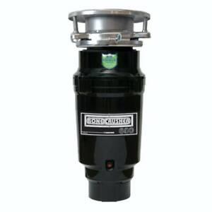 Bonecrusher 600 Kitchen Sink Waste Disposal Unit (20215) - Black Stainless St...