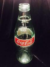 Vintage 1970's Glass COCA COLA COKE 1 Liter size Original Bottle