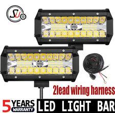 """2x 7INCH 120W LED WORK LIGHT BAR SPOT OFFROAD ATV FOG TRUCK LAMPS 4WD 12V 24V 6"""""""