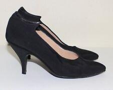 MAUD FRIZON vintage black silk side sculpt shoes 37.5