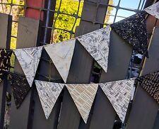 Fabric bunting  New York street map - photography, wedding, baby, nursery