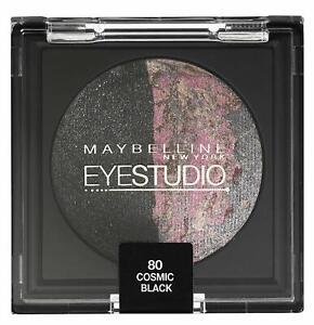 MAYBELLINE EYE STUDIO BAKED 80 COSMIC BLACK EYESHADOW (BLACK / PINK) (PACK OF 2)