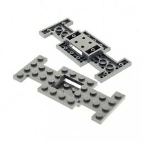 2x Lego Fahrgestell neu-dunkel grau 4x10 Unterbau Platte Chassis 4212b