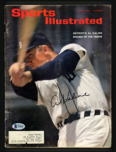 Al Kaline Autographed Signed Sports Illustrated Magazine Tigers Beckett S76255