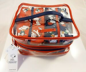 SNOOPY Peanuts 3 tlg. Set Tasche Waschtasche Kosmetiktasche Beauty Case Bag NEU