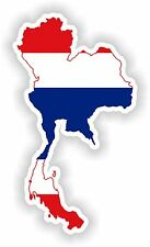 Sticker Silhouette Thailand Map Flag for Bumper Guitar Skateboard Locker Tablet