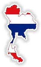 Sticker Silhouette Thailand Map Flag for Bumper Guitar Skateboard Locker Tablet