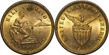 1904 US/Philippines Half 1/2 Centavo ~ BU Red/Brown~ Allen#1.02 ~ MX819