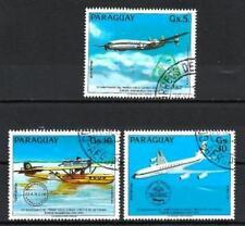 Avions Paraguay (19) série complète de 3 timbres oblitérés