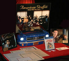 AMERICAN GRAFFITI Signed 9 CAST Autographs, UACC DVD COA, Frame, MUSTANG Display