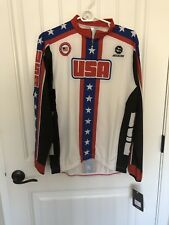 NWT Team USA Cycling Long Sleeve Women's Cycling Jersey SIZE XLarge