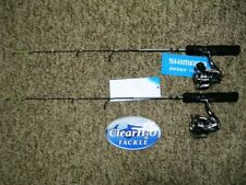 "2PK SHIMANO SIENNA 40"" MEDIUM HEAVY W/ SIENNA 1000FE ICE FISHING COMBO'S"