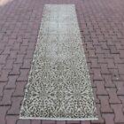 Anatolian Oriental Handmade Carpet Turkish Oushak Traditional Runner Rug 3x9 ft
