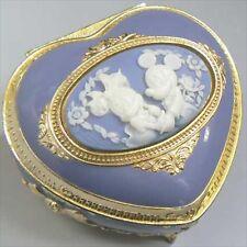Disney jewelry box music box (Mickey Minnie) antimony Heart Blue gift