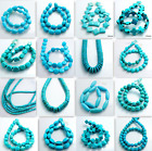 15'' Strand Blue Turquoise Gemstone Spacer Loose Beads Charm Findings