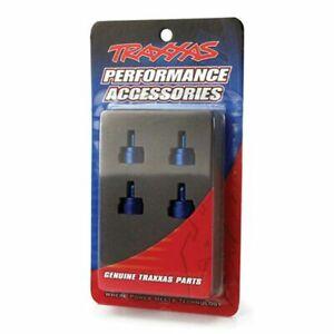 Traxxas Part 3767A Shock caps aluminum blue-anodized Slash Rustle New in Packag