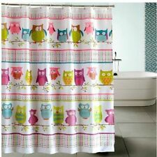 Owl Kids Bright Animal Retro Hook Waterproof Bath Shower Bathroom Curtains DIY