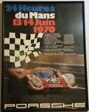 RARE Original PORSCHE Le Mans Racing Poster 1970