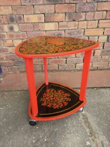 Vintage ~Russian Table ~Traditional Khokhloma Painted Table ~VGC