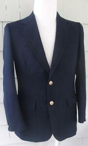 Vtg navy wool Pendleton Country Traditionals blazer jacket gold buttons
