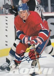 SAKU KOIVU NO:S174  AUTHENTIC AUTOGRAPH  QUOTEBOOK in BE A PLAYER  1995-96     a