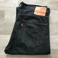 Men's Levi's 505 Straight Leg Black Jeans W34 L31 (#A953)