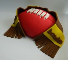 1 edible 3D FOOTBALL SUPPORTER SCARF CAKE TOPPER rugby league UNION aussie rules