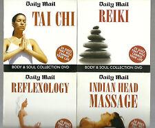 15 MINT DVD'S & 1 CD/ALTERNATIVE HEALTH/THERAPY/TREATMENT/TAI CHI/REIKI/PILATES