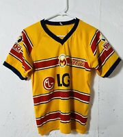 Vtg Monarcas Morelia Yellow LG Bimbo Coca Cola Soccer Futbol Football Jersey S