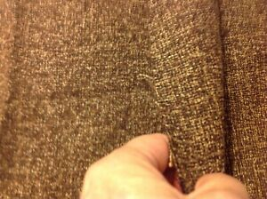 """Vintage Acrylic Blend Brown White  Fabric 1 3/4 Yard X 60"""" Wide"""